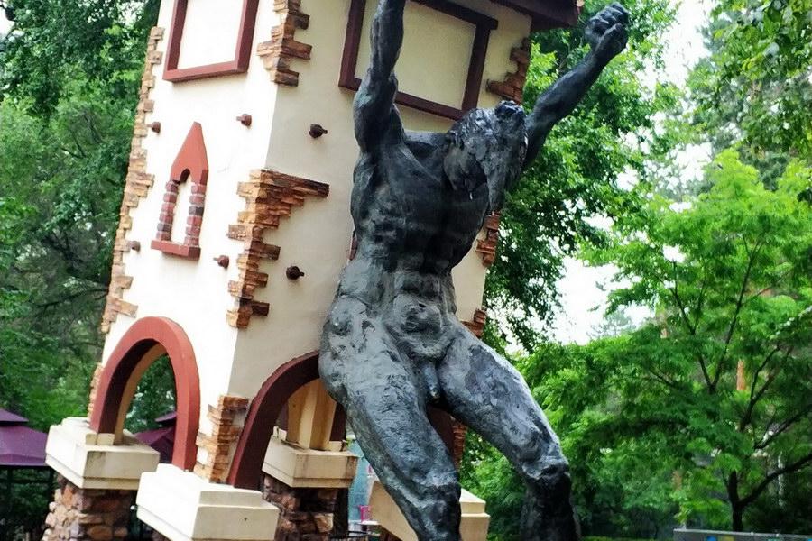 公园水泥雕塑